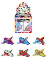 6 X Mini GLIDERS AIRPLANES toy Party Bags Filler Stocking Fillers
