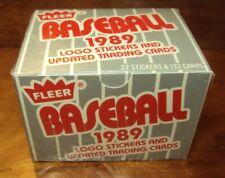 1989 FLEER Update Box + Logo Stickers Sealed U59 Randy Johnson RC Nolan Ryan U67