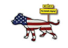 PIT PITBULL American flag Decal/Sticker United States Die Cut 3x5 p92
