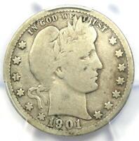 1901-S Barber Quarter 25C - Certified PCGS VG Details - Rare Key Date Coin!