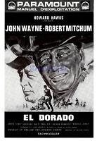 EL DORADO  ORIGINAL FRENCH PRESSBOOK JOHN WAYNE ROBERT MITCHUM 1967