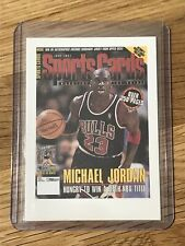 MICHAEL JORDAN 1998 SPORTS CARD MAGIZINE PROMO CARD CHICAGO BULLS RARE-Mint