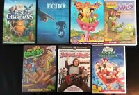 7 DVD Kids Movies- Mickey Echo Polly World Milo Rise of the Guardians Scooby-Doo