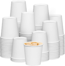 300 Pack 6 Oz White Paper Hot Coffee Cups