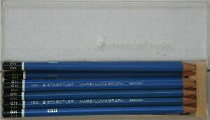 11 Staedtler Mars-Lumograph 100 6H lead presharpened pencils in original box!