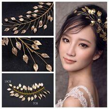 Crown Charm Women Tiara Cinnamon Gold Leaf Headband Bridal  Headpieces