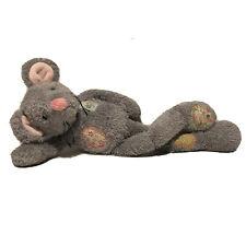 "New listing Aurora Lolly Gagz Scruffy Patchwork Mouse Plush Stuffed Animal Toy Gray 15"""