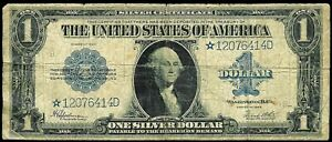 1923 *STAR NOTE UNITED STATES $1 SILVER CERTIFICATE FR. # 237 SPEELMAN & WHITE