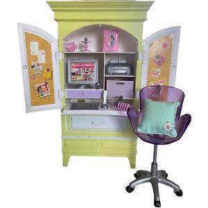 Mattel Barbie My House Armoire Desk Set Computer Furniture