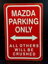 Mazda Parking Only métal signe/vintage garage Wall Decor (30 x 20 cm)
