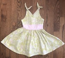 Icky Baby Girls Dress Green Pink Paisley Floral Gingham Trim Size 2T Boutique