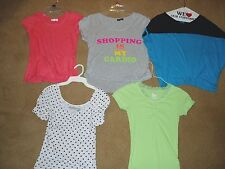 "Girl's, lot of 5, ""BRAND NAME SHORT SLEEVE SHIRTS"", size 12/14, Aeropostale more"