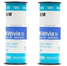 2 Rolls x Fujifilm FUJI PRO Velvia 50 ISO Reversal RVP Color 120 Slide Film