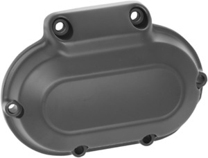 Drag Specialties Flat Black Transmission Side Cover 06-17 Harley Twin Cam FXS