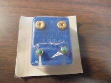 Earrings Piercing Studs Surgical Steel Light Green