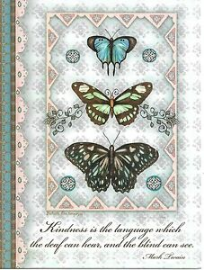 Blue Butterfly Butterflies Kindness Thank You Greeting Card By Leanin' Tree