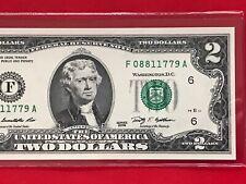 """Wow 2009 $2 TWO DOLLAR BILL ( Atlanta """"F"""") ,UNCIRCULATED"""