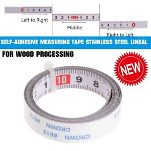 1/2M Selbstklebende  Edelstahl Lineal Metrische Maßband Für Holzbearbeitung