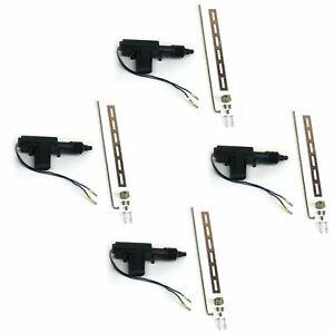 4x HEAVY DUTY UNIVERSAL POWER DOOR LOCK 2WIRE ACTUATORS METAL GEAR 9.9 LB TORQUE