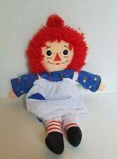 """Hasbro 1996 RAGGEDY ANN by Johnny Gruelle 13"""" Plush Cloth Doll Vintage"""