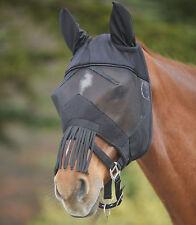 Fliegenmaske Premium mit Ohrenschutz und Nasenfransen Fliegenhaube Fliegenschutz