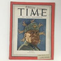 Time Magazine June 21 1943 Vol 41 #25 Former Prime Minister Benito Mussolini