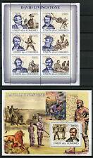 Comoros Comores 2008 MNH David Livingstone 6v M/S 1v S/S Exploration Stamps