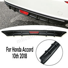Carbon Fiber PP Rear Bumper Diffuser Lip Spoiler Wing For Honda Accord 10th 2018