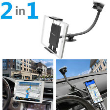 Universal Suction Cup Car Tablet Mount Phone Holder (2 in 1) for iPad & iPhone