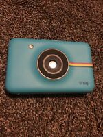 Polaroid Snap Camera - Blue, Polsp01 W/ Zink Ink Free Tech. Mint Cond Body Only.