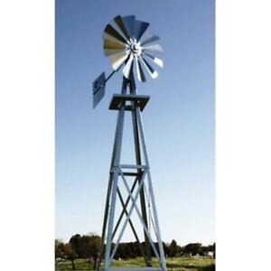 Outdoor Backyard Windmill 11 Feet 6 inch Tall Galvanized Sturdy Patio Backyard