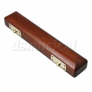 Wood Flute Head Joint Maple Case Flute Wooden Storage Box Amber Color