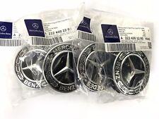 Radnabenabdeckung Mercedes Benz Nabenkappe neues Design schwarz - 4er Set