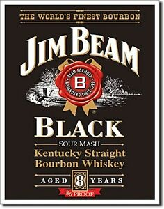 Jim Beam Black Label metal sign 400mm x 320mm (de)