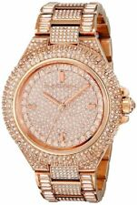 Michael Kors Womens Camille Glitz Rose Gold-Tone Stainless Watch MK5862