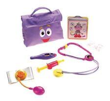 NEW Dora Explorer Dora Play Doctor Kit Check Up Kit w Stethoscope Backpack