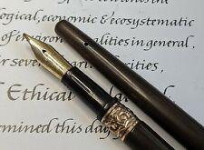 More details for rare antique waterman's 24 eyedropper pen taper cap *flexible nib*