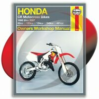 1986-2007 Honda CR125R Haynes Repair Manual 2222 Shop Service Garage