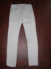 Jean slim moulant blanc femme H&M taille 34 / 36
