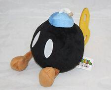 Super Mario Bros BOMB stuffed Plush Soft Doll BOB-OMB Bomb toy Black New