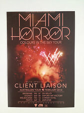 MIAMI HORROR Australian Tour Poster 2014 A2 Colours In The Sky Illumination *NEW