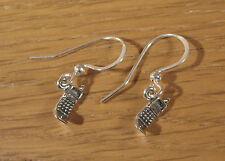 Miniature Flip Phone Dangle Earrings .925 Sterling Silver USA Made Cellphone