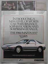 Mazda RX-7 Original advert No.1