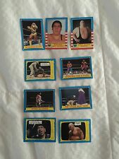 1987 WWF Trading Cards 9 Unique Classic Card Collectibles ( Pro Wresting WWE )
