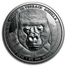2016 Republic of Congo Silver 1 oz Silverback Gorilla (Prooflike) - SKU #98935