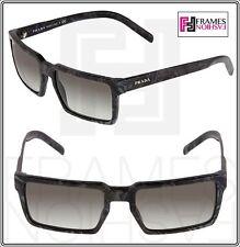 PRADA 03S TECHNIQUE Square Grey Black Marble Gradient Sunglasses Unisex PR03SS