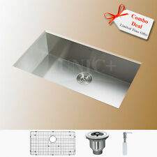 "New 27"" Zero Radius Stainless Steel Under mounted Single Kitchen Sink KUS2718"