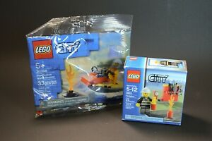 Lego City 30368 Fire Rescue Water Scooter & 5613 Firefighter MISP Sets
