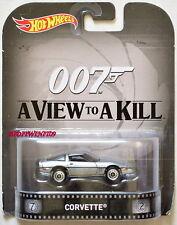 HOT WHEELS 2015 RETRO ENTERTAINMENT 007 A VIEW TO A KILL CORVETTE