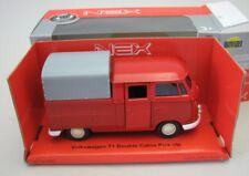 VOLKSWAGEN T1 DOUBLE CAB PICK UP VAN 1//36TH RED//WHITE OPENING DOOR TYPE Y065J^*^